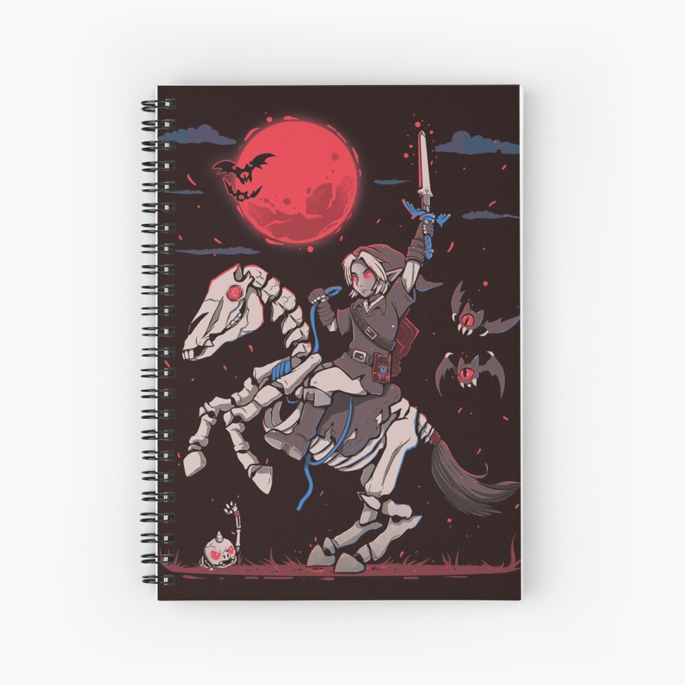 The Red Moon Rises  Spiral Notebook