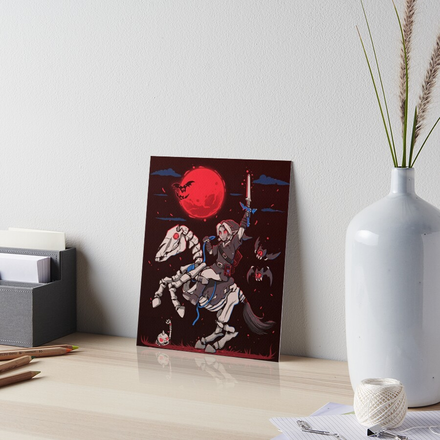 The Red Moon Rises  Art Board Print