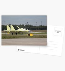 Su-30MK just landed Postcards