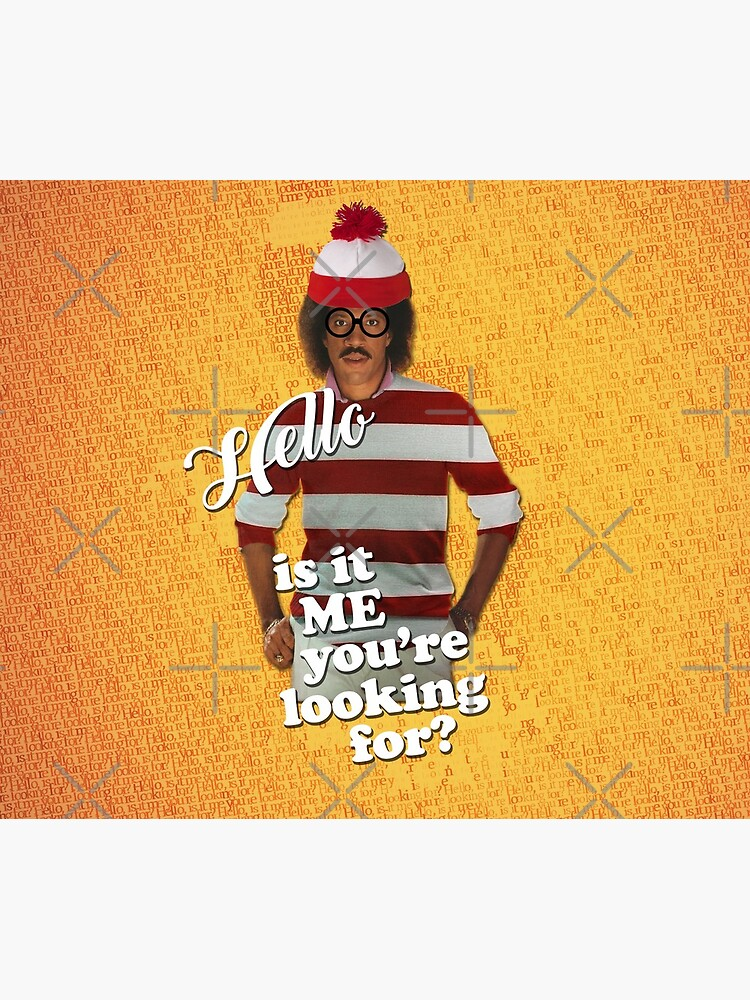 Hello, is it Me You're Looking For? Lionel Richie Where's Waldo/Wally Mashup by ThisOnAShirt