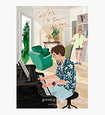 Call Me By Your Name Drawing - Elio playing the Piano Photographic Print