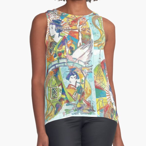 Japan in abstract Sleeveless Top