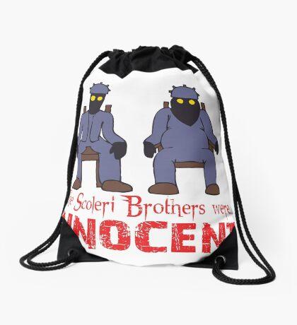 The Scoleri Brothers Were Innocent Drawstring Bag