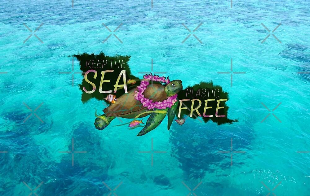 Aloha Sea Turtle - Keep The Sea Plastic Free by Sirieht
