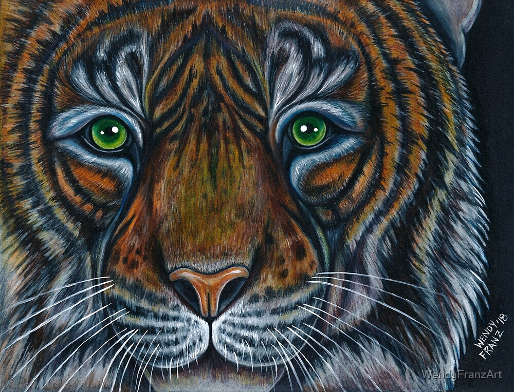 Tiger, King of the Jungle by WendyFranzArt