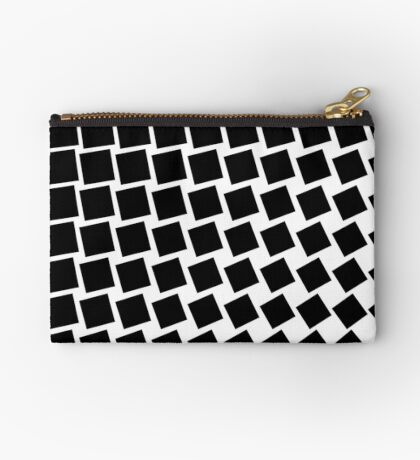Square Wave 002 Zipper Pouch