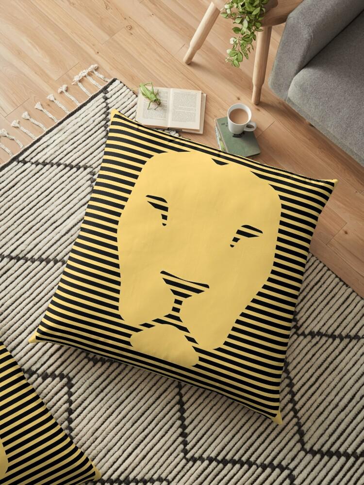 Fierce Lion Icon in Stripes by ByMaSOLE