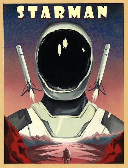 Elon Musk Starman Spacex by Starjet-Pilot