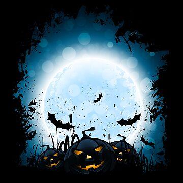 Jack O Lantern Funny Halloween Pumpkins by -WaD-