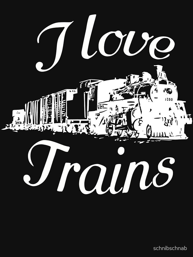 I love trains by schnibschnab