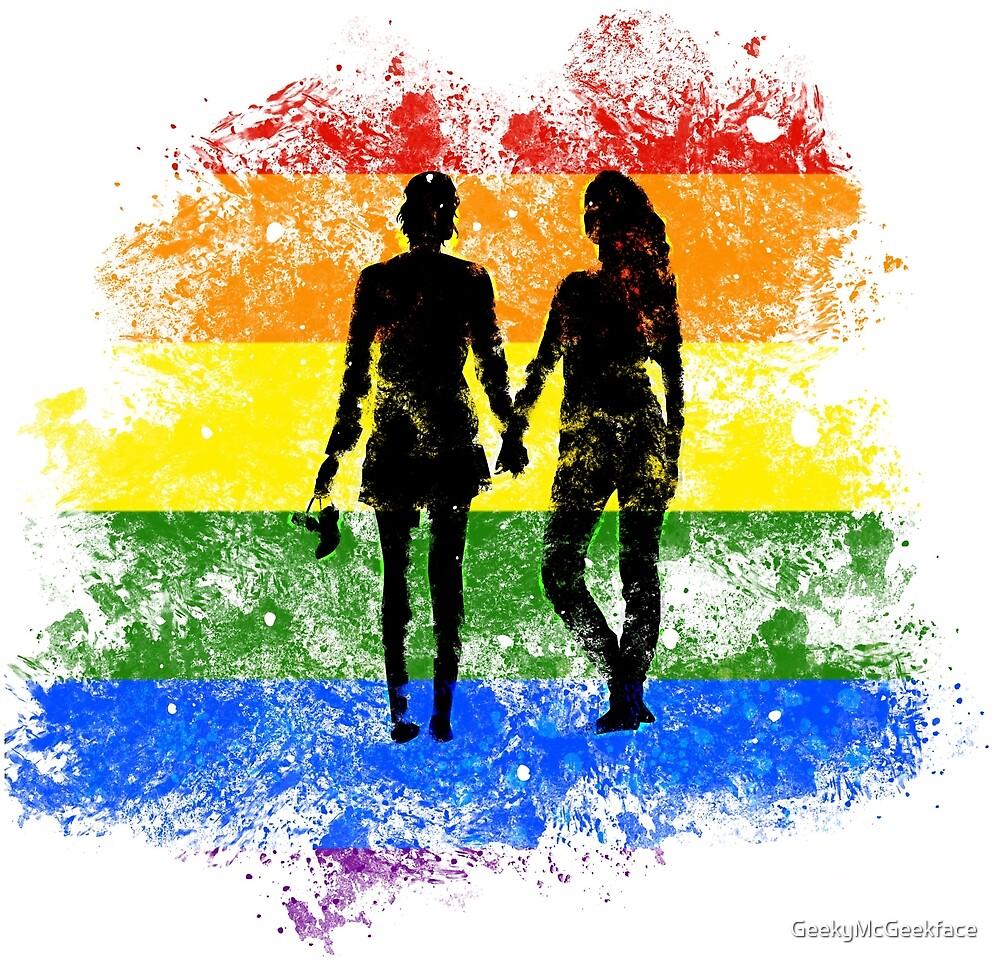 Rainbow Love by GeekyMcGeekface