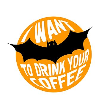 Funny Halloween Black Bat Message by -WaD-