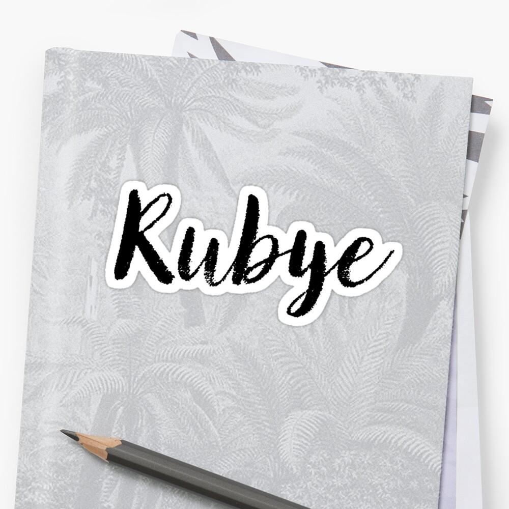 Rubye - Custom Wife Daughter Girl Stickers Shirts by stamaigra