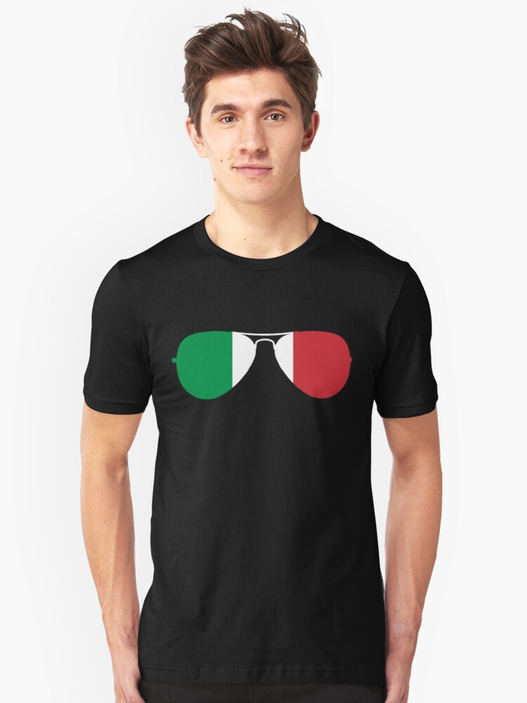 Italy sunglasses Unisex T-Shirt Front