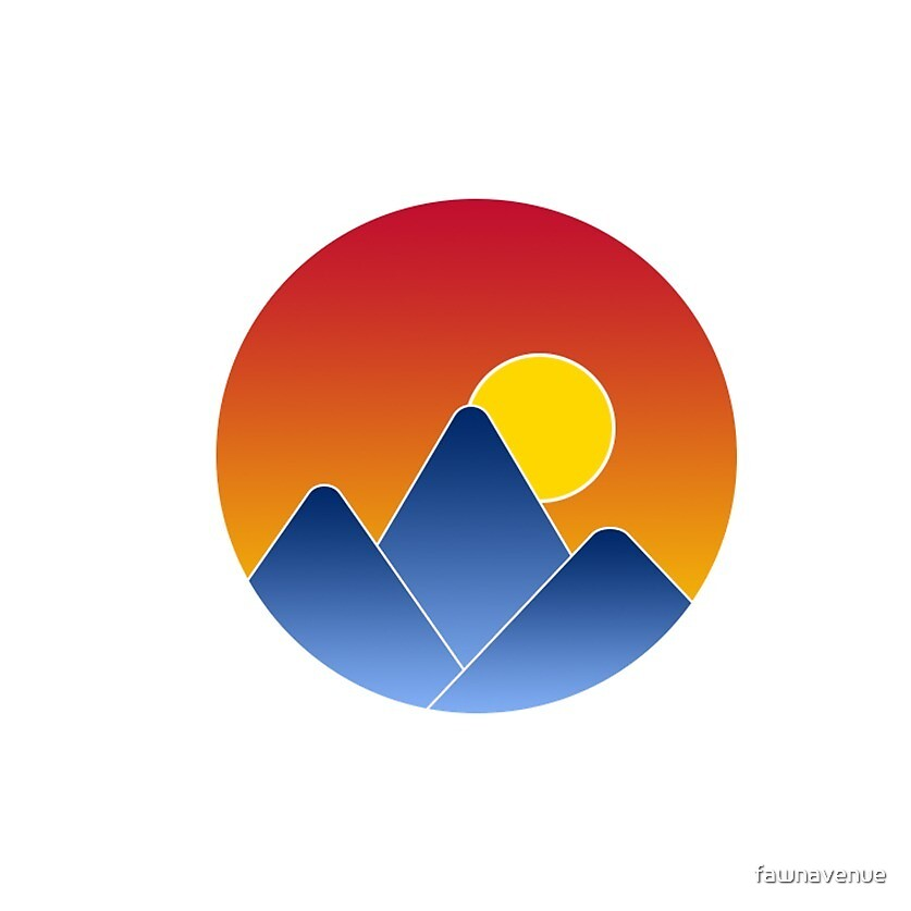 Colorado Flag Colors - Mountain Sunset  by fawnavenue