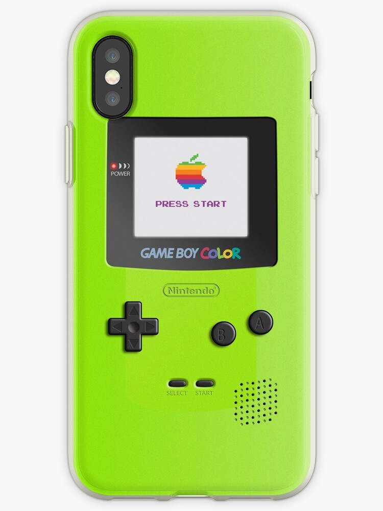 Nintendo Game Boy Color Kiwi (Green) Iphone case by RicardoTito