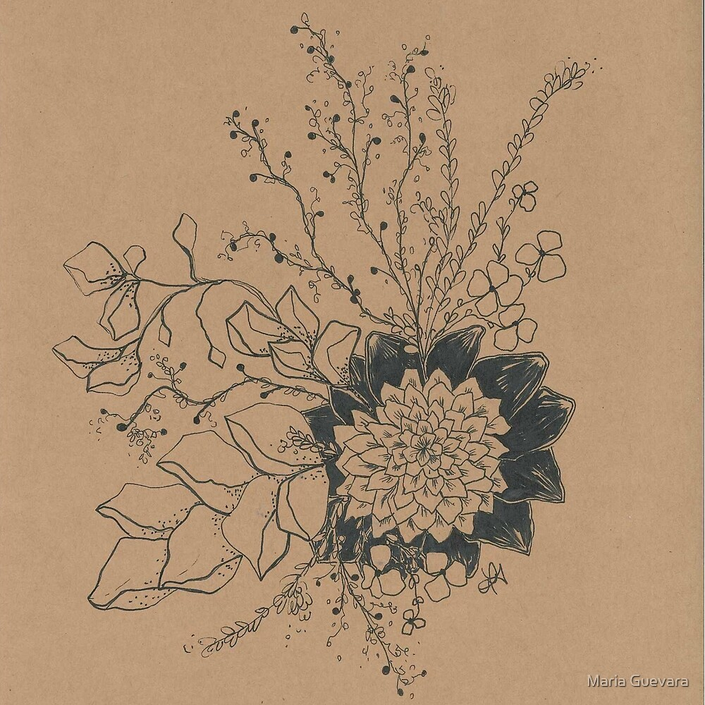 Ink flower by mguevara