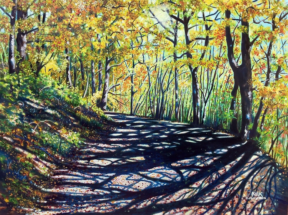 'EARLY AUTUMN ALONG THE TRAIL' by Jerry Kirk