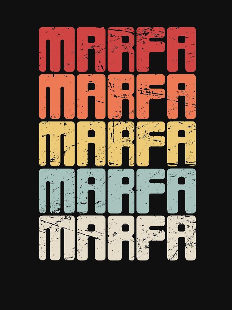 Marfa Texas - Retro Texan Gift by EMDdesign