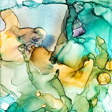 Caribbean Breeze - Alchohol Ink Abstract Painting by ilzesgimene