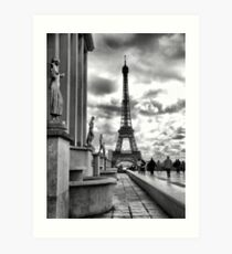 Eiffel Tower VI B&W Art Print