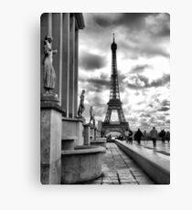 Eiffel Tower VI B&W Canvas Print