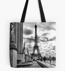 Eiffel Tower VI B&W Tote Bag