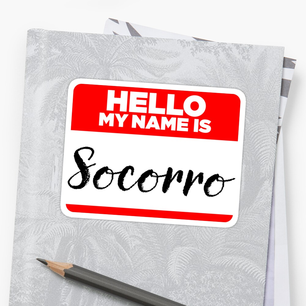 My Name Is... Socorro - Cool Name Tag Hipster Stickers by lyssalou2002b