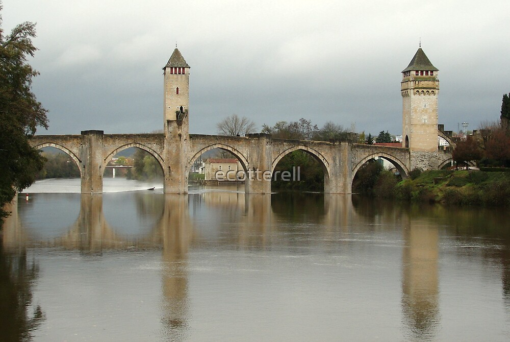 Cahors bridge, France by ecotterell