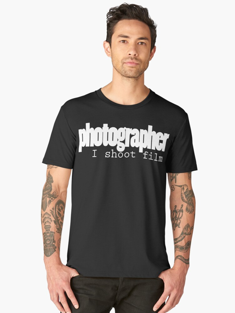 photography: I shoot film Men's Premium T-Shirt Front