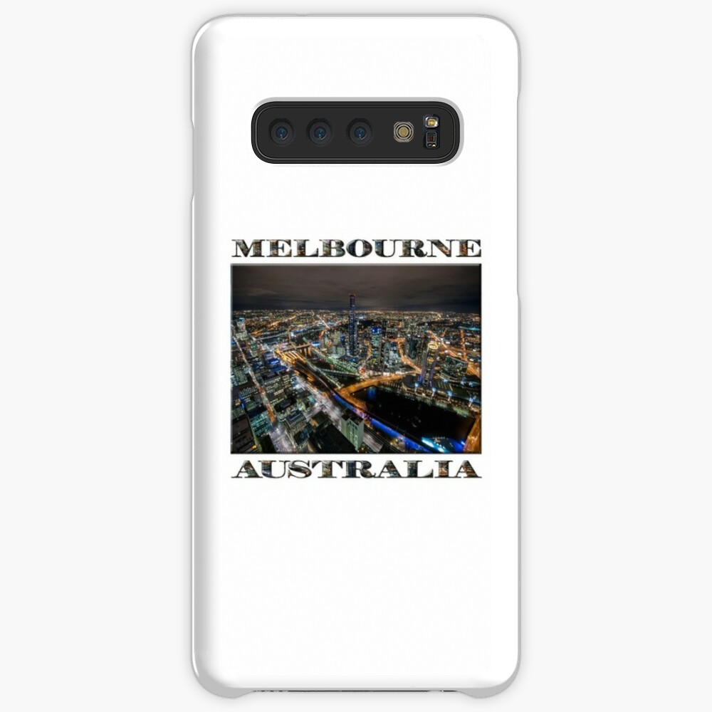 City Lights (poster on white) Case & Skin for Samsung Galaxy