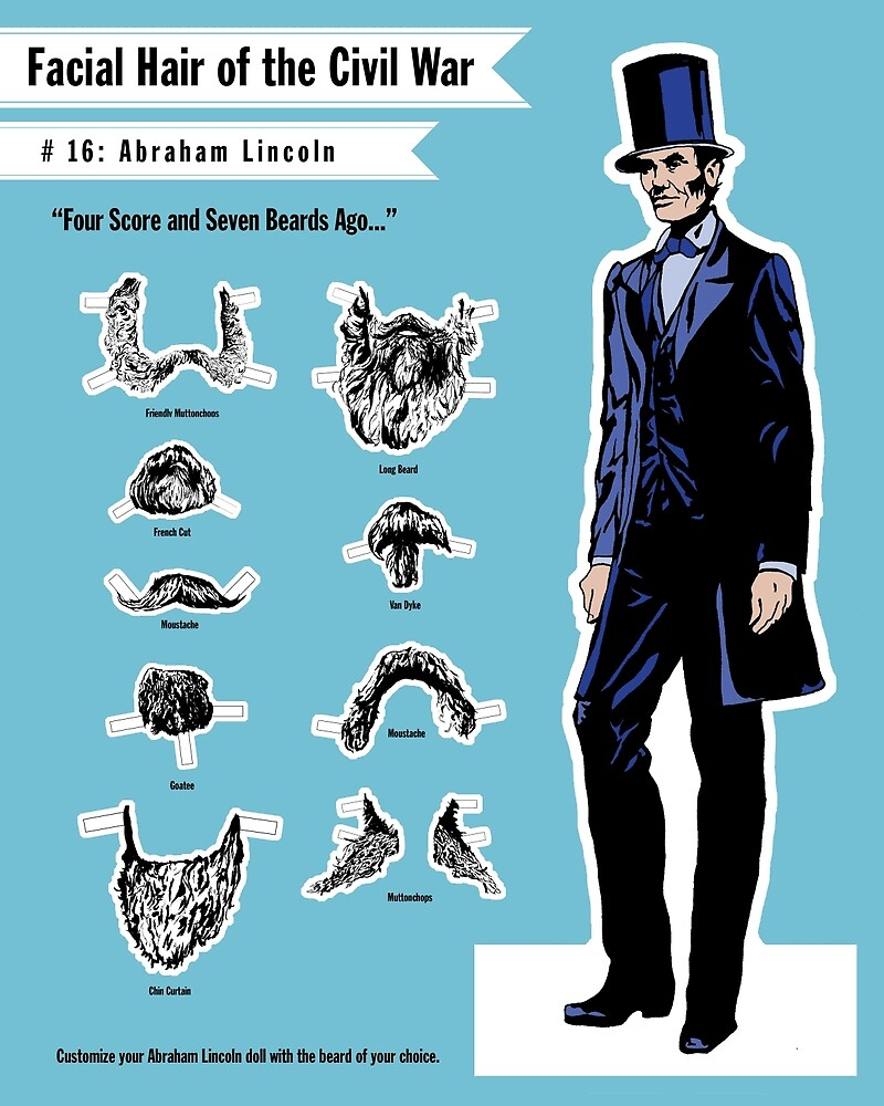 Taxonomy: Facial Hair of the American Civil War by Katie Jundt
