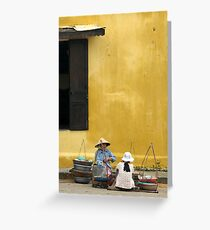 Street vendors Greeting Card