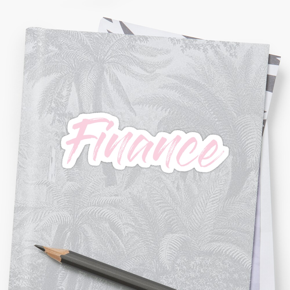 Finance - Class Label in Pink by rracheell