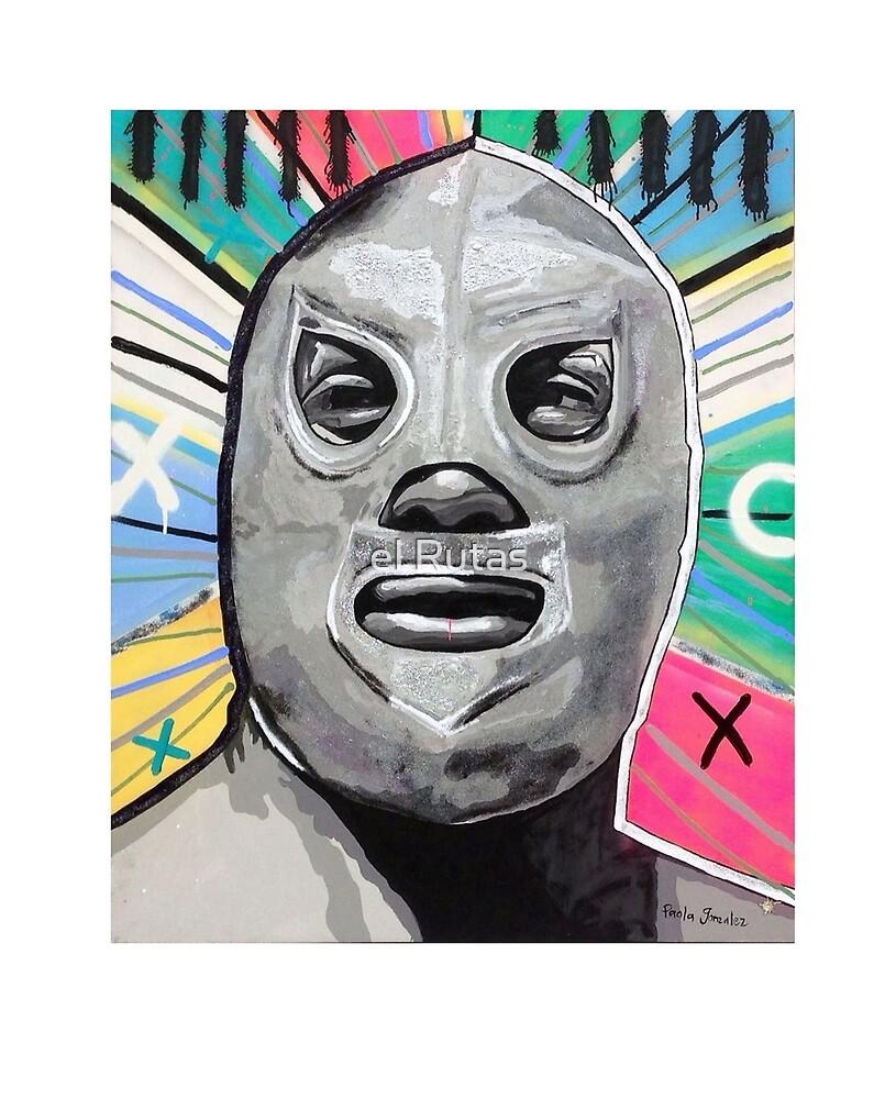 Mexican wrestler by el Rutas