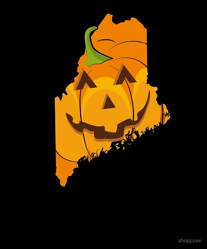 Halloween T Shirt Maine Cute Halloween Adult by shoppzee