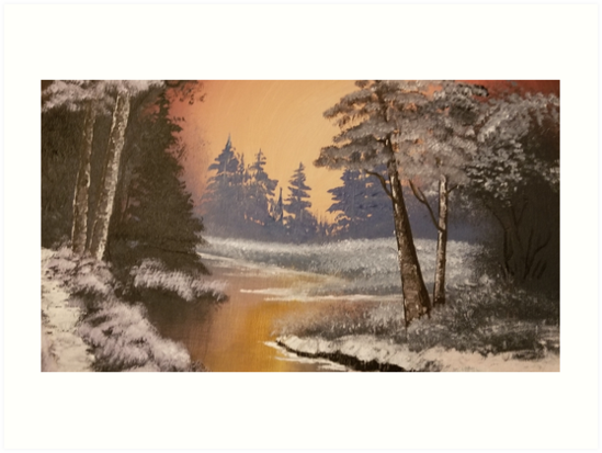 Warm Winter Forest by AcrylicsbyJen