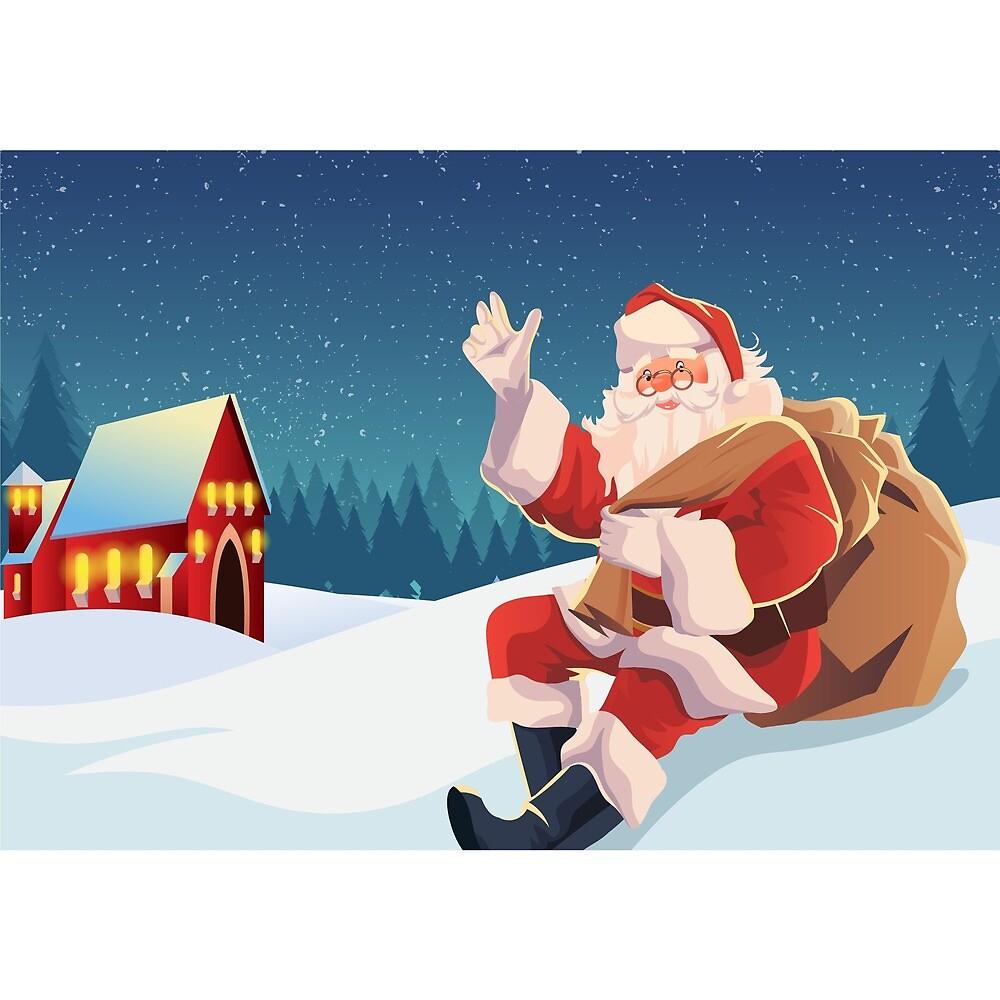 santa claus merry christmas by leonardoamichel