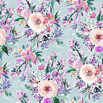 WILD DANCE Ice Blue Floral by Barbarian