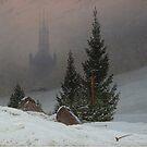 Winterlandschaft..Winter Landscape..1811 by Caspar David Friedrich by edsimoneit