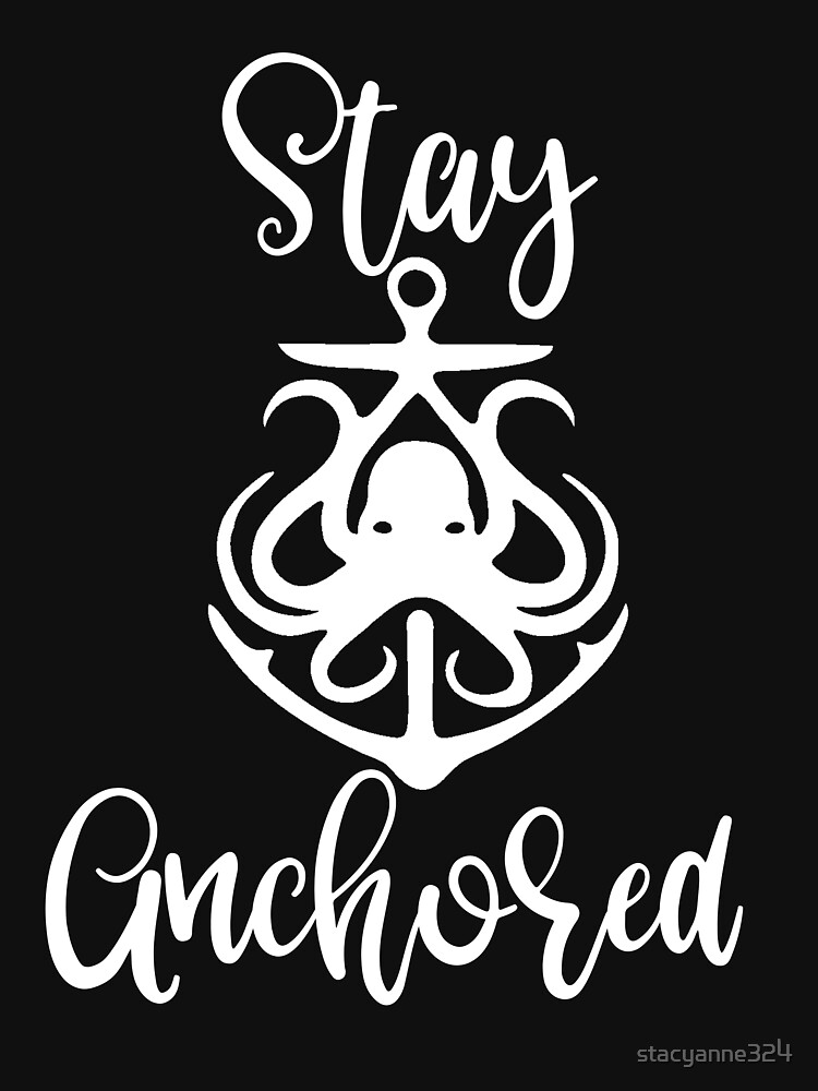 Nautical Octopus Anchor Stay Anchored Beachy Sailor Gift by stacyanne324