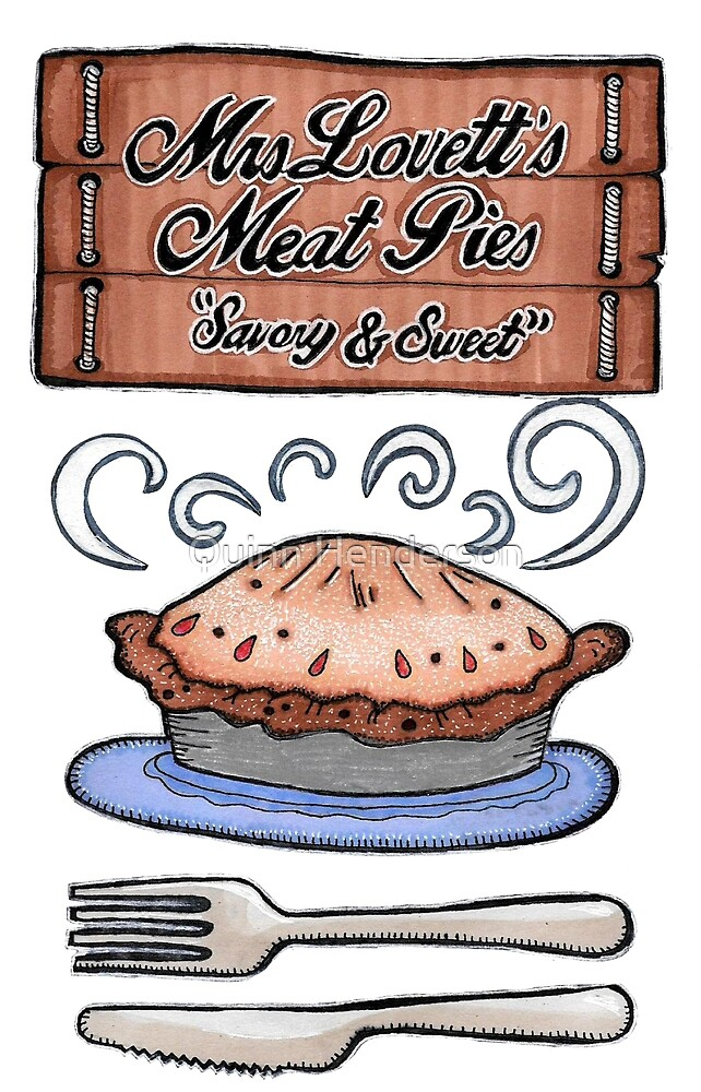 Fleet Street Meat Pies Advert by Kristina Henderson