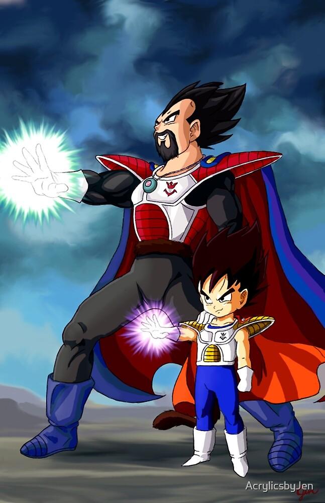 Father and Son Big Bang Attack by AcrylicsbyJen
