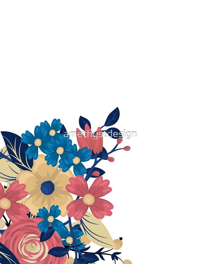 Elegant Flower Clock by amethystdesign