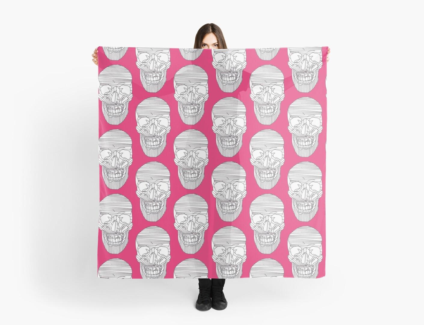 Large Lined Skull  by Lukasz  Czyzewski