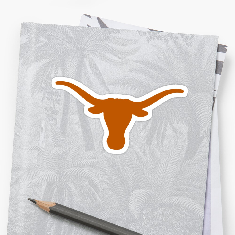 Texas Longhorn  Sticker Front