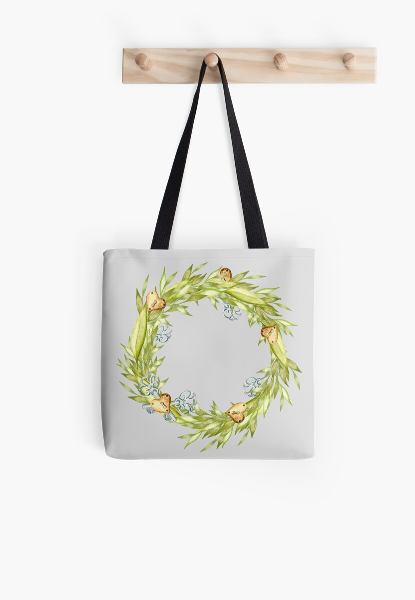 Boho wreath of grass, hearts and old keys by ArtOlB