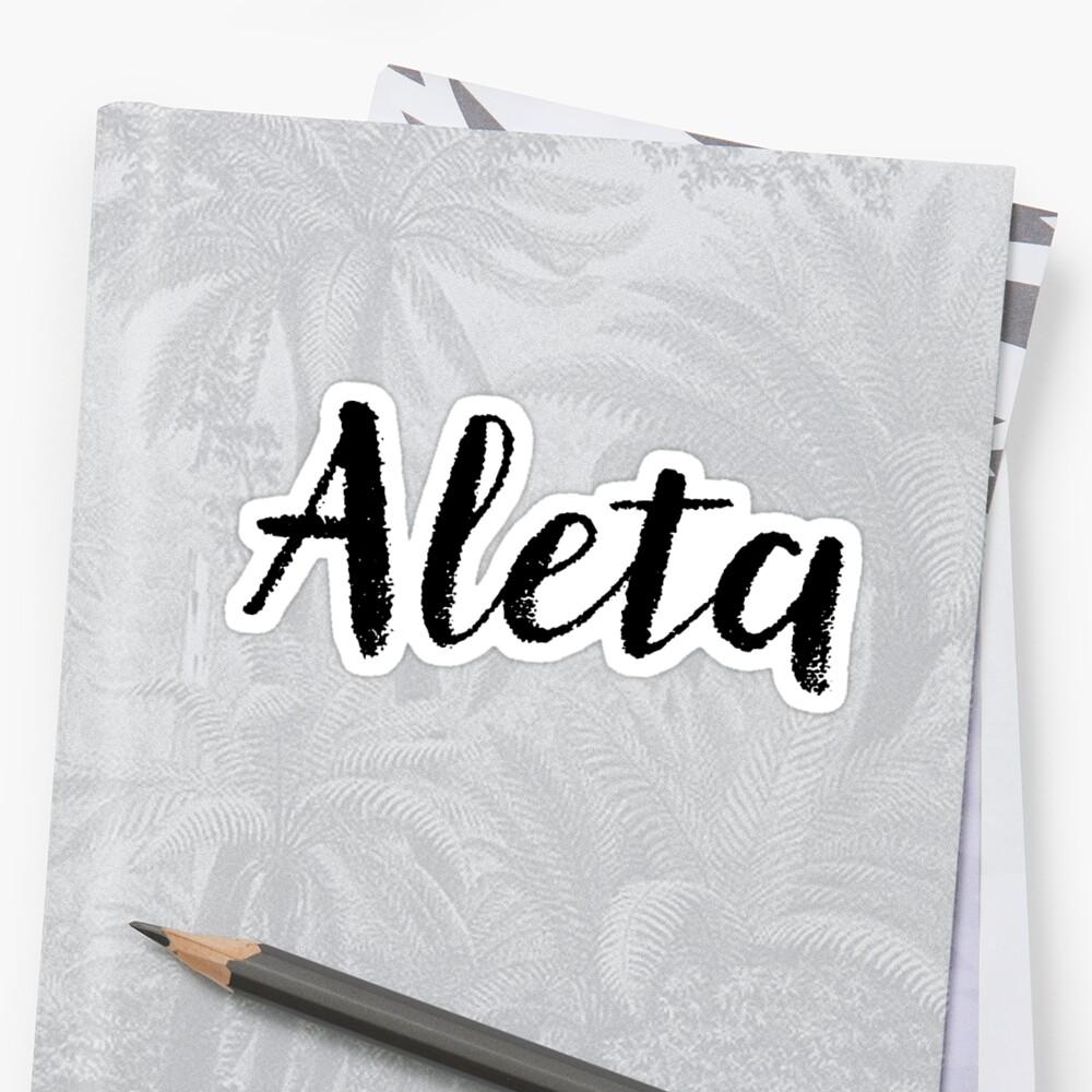 Aleta - Custom Girl Name Gifts by stamaigra
