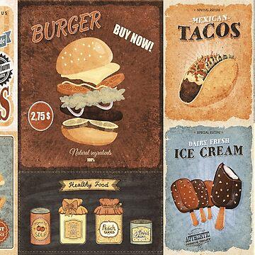 foods vintage by serbandeira