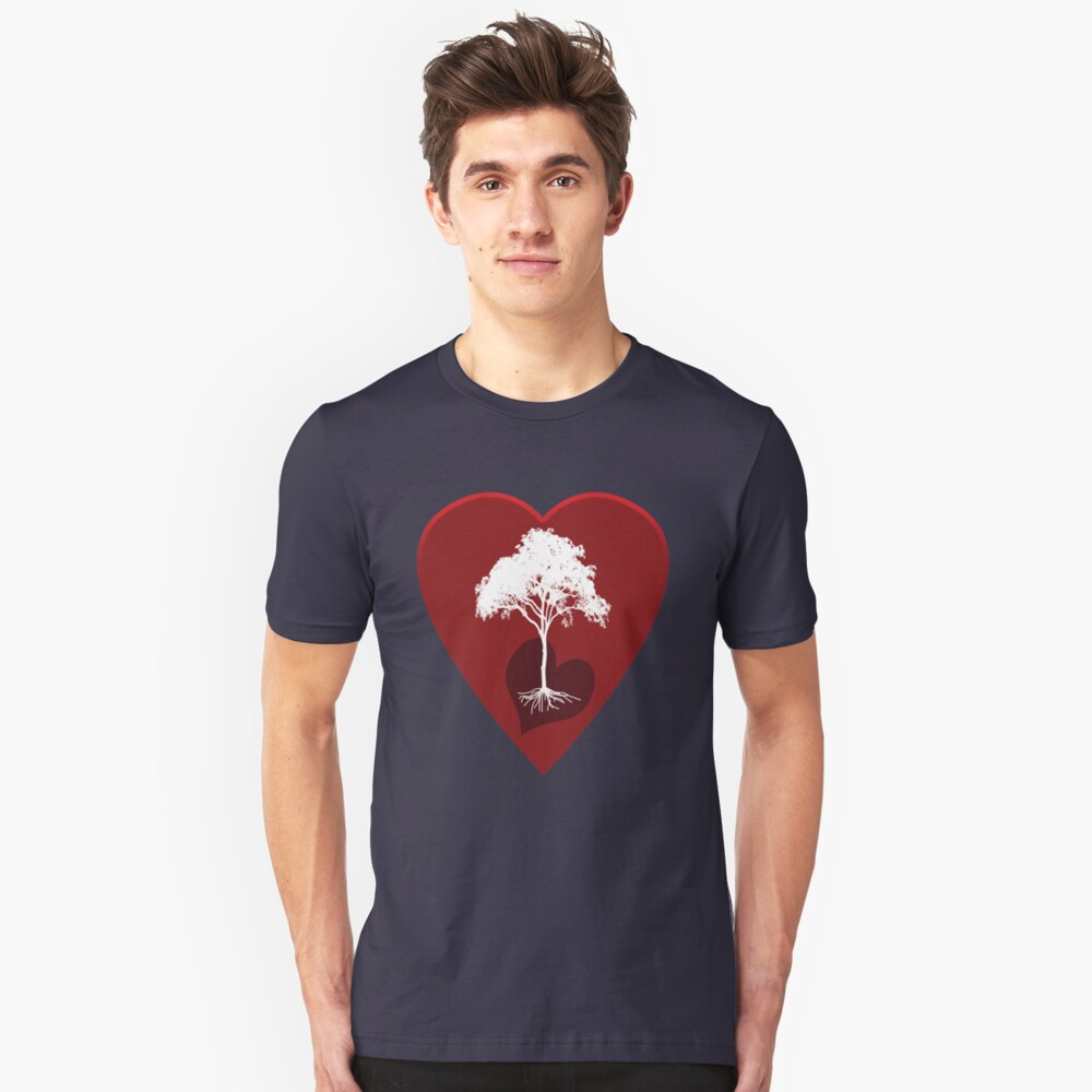 Hearts and Tree Unisex T-Shirt Front